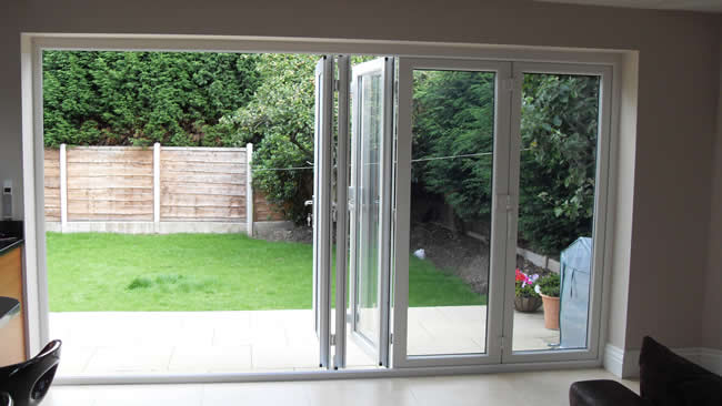 Patio french bi folding doors misted windows for Patio windows and doors